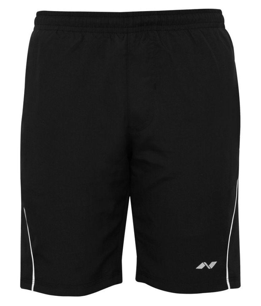 Nivia Black Polyester Running Shorts Single