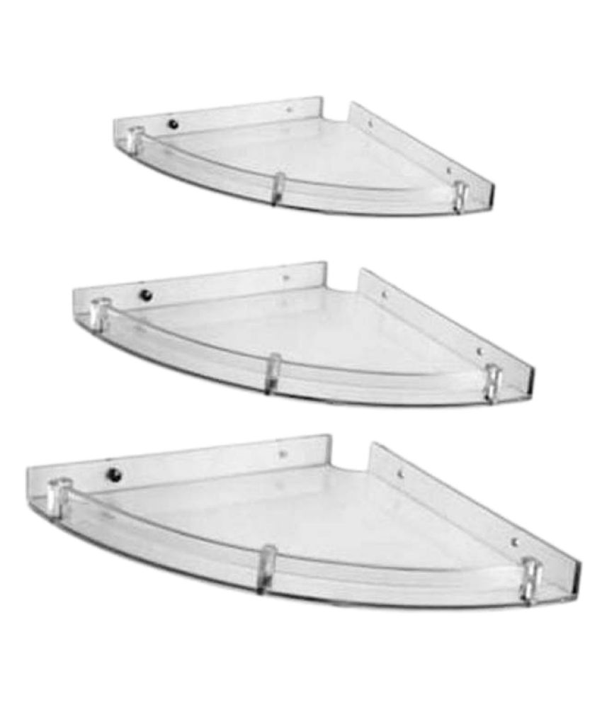 buy masterfit unbreakable set of 3 acrylic corner shelf online at rh snapdeal com
