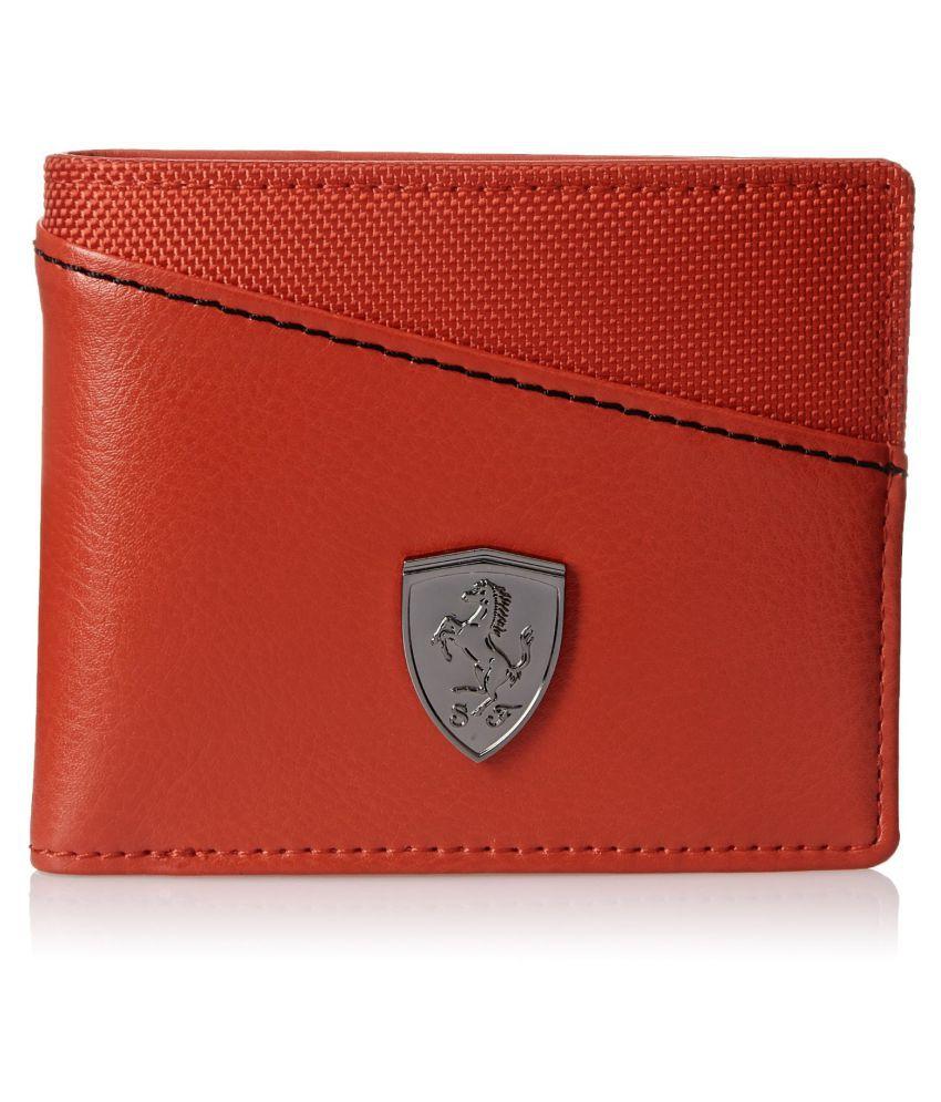 puma wallets orange