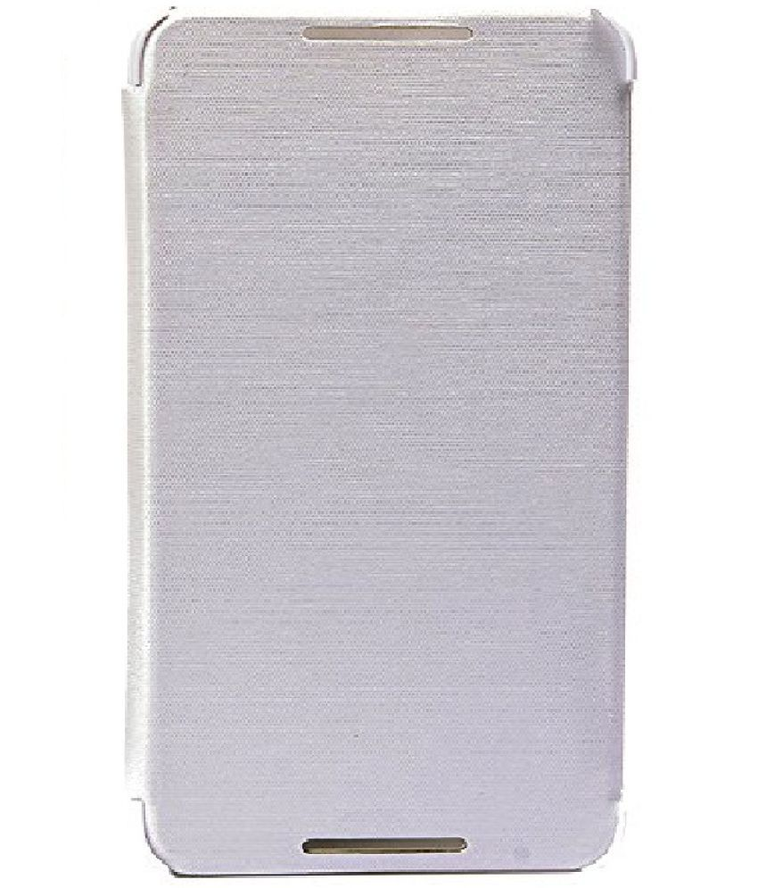 size 40 cb0bb f9f3d Micromax Canvas Gold A300 Flip Cover by Shanice - White