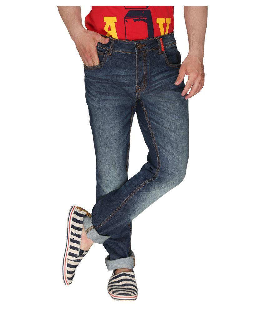 Again? Vintage Navy Blue Slim Jeans