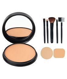 Oriflame Oriflame Pure Colour Pressed Powder-light With Make Up Brush Set (5 Pcs) & Puff Set (2 Pcs.) Facial Kit Gm