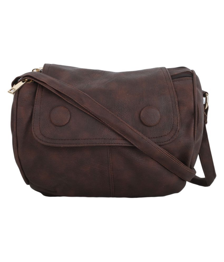 Vogue Street Chocolate Brown P.U. Sling Bag