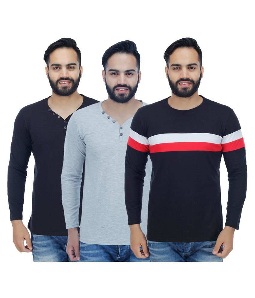Candy House Multi Round T-Shirt Pack of 3