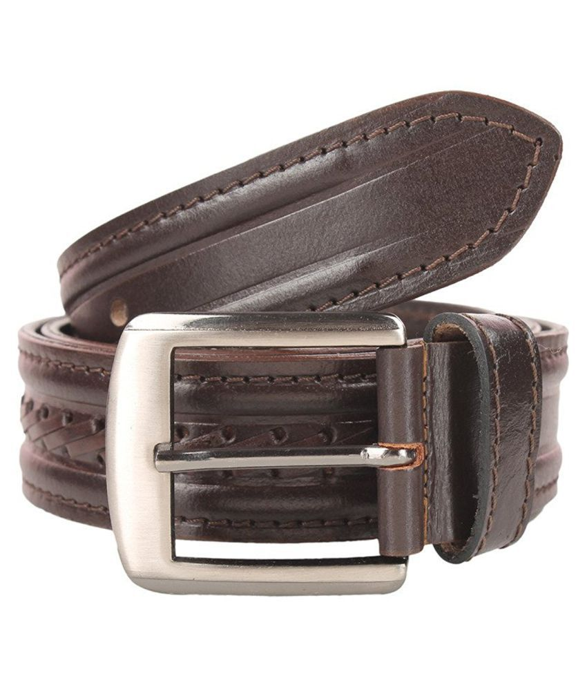 Leatherwala Brown Leather Casual Belts