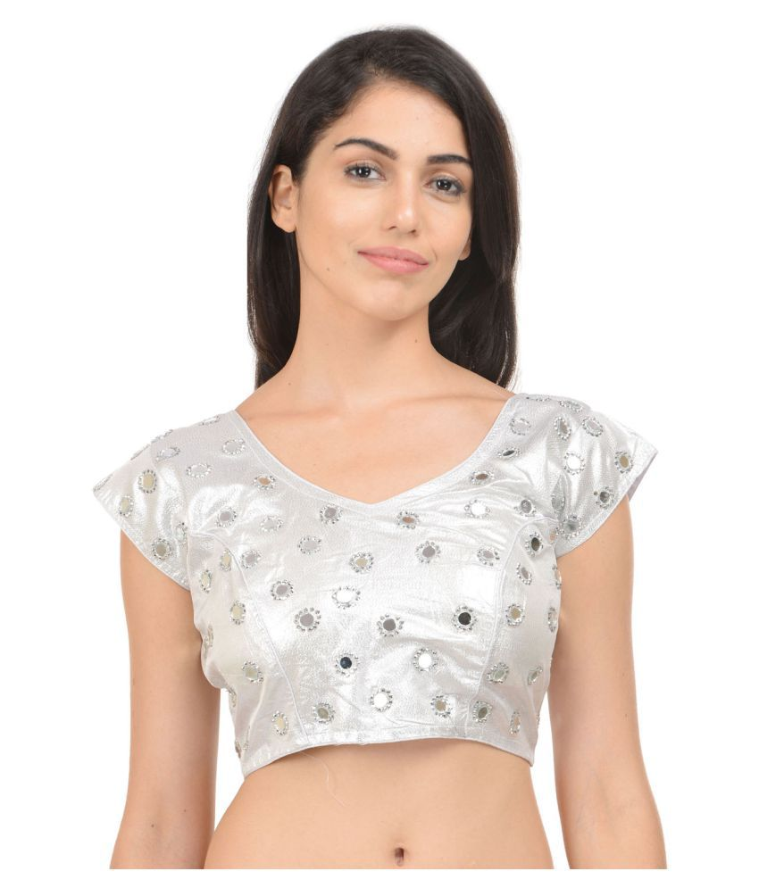 46f33952d73 Rzlecort Silver Brocade Readymade with Pad Blouse - Buy Rzlecort Silver  Brocade Readymade with Pad Blouse Online at Low Price - Snapdeal.com