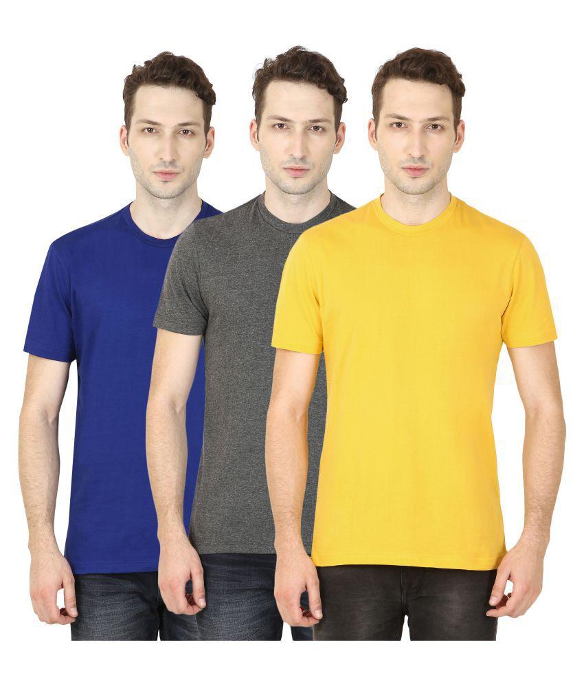 TrendBerry Multi Round T-Shirt Pack of 3