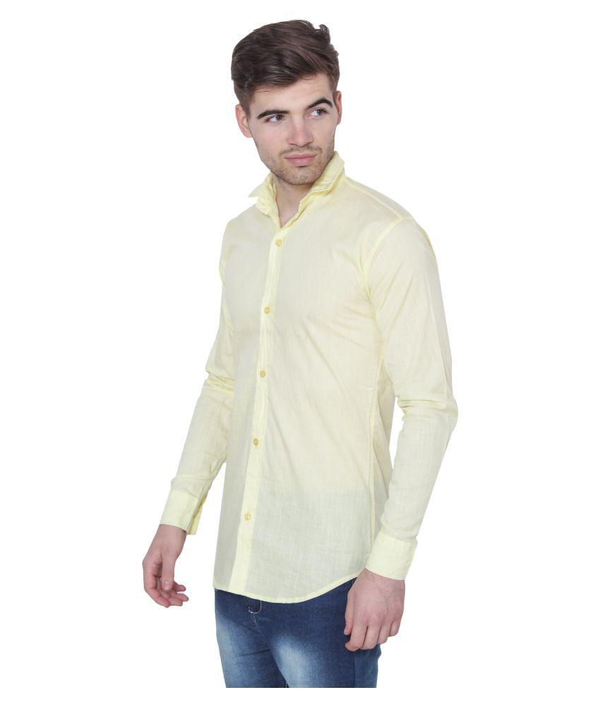 Men Formal Shirt Color Yellow