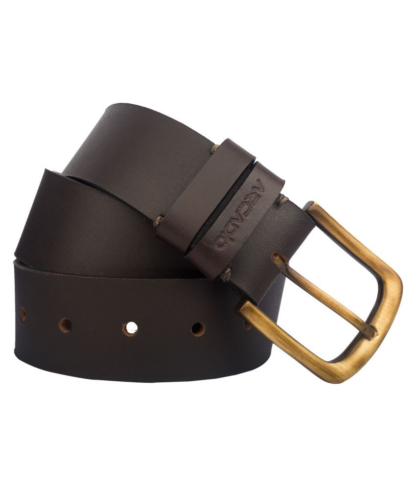 Arcadio Brown Leather Casual Belts