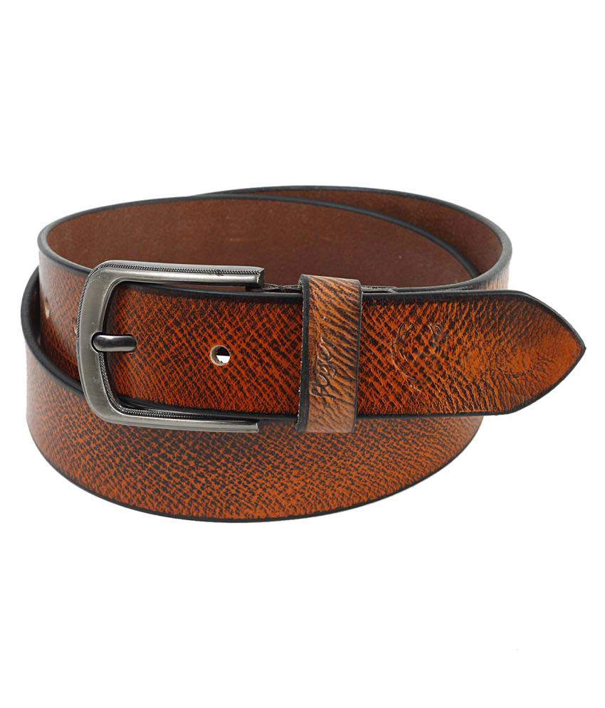 Flyer Brown Leather Casual Belts