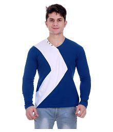 Zcell Blue V-Neck T-Shirt