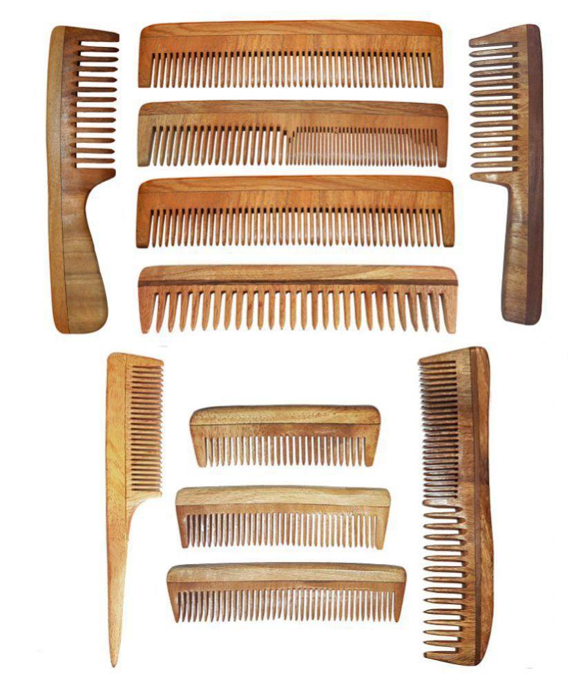 Majik Neem Wood Comb 11 Combo Set Styler