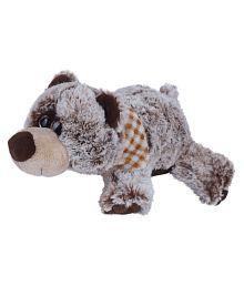Ultra Lying Bear Plush Animal Soft Toy Dark Brown 14 Cm