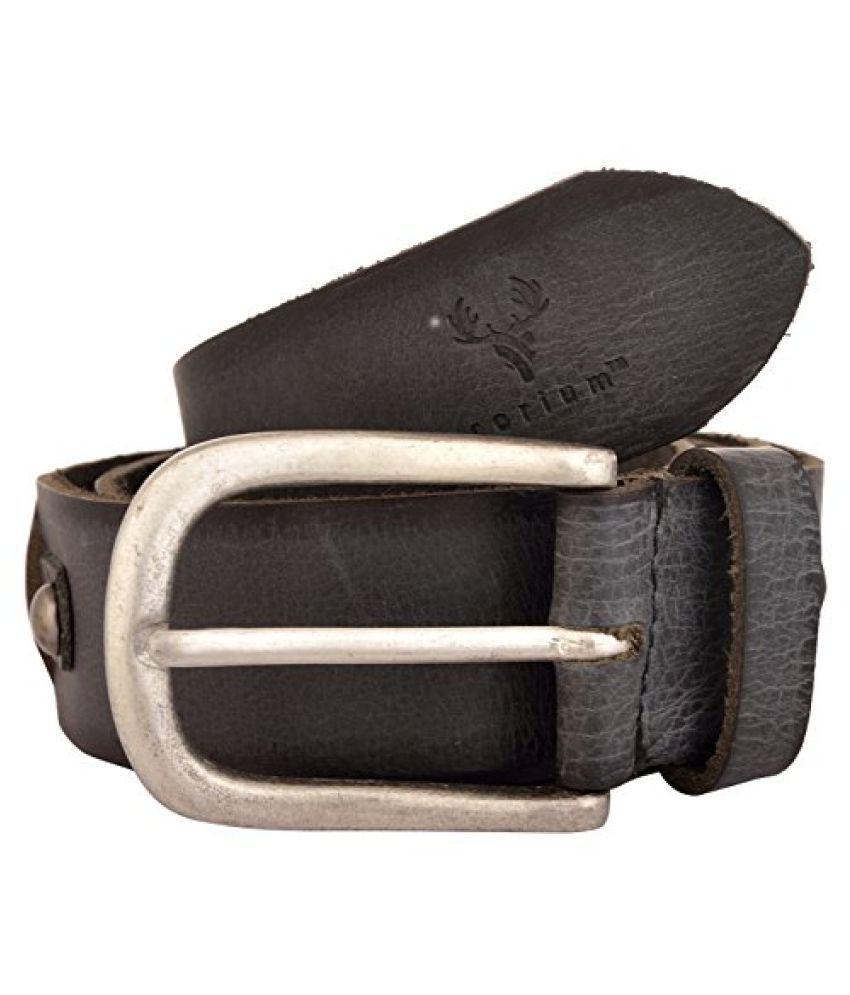Corium Black Leather Formal Belts
