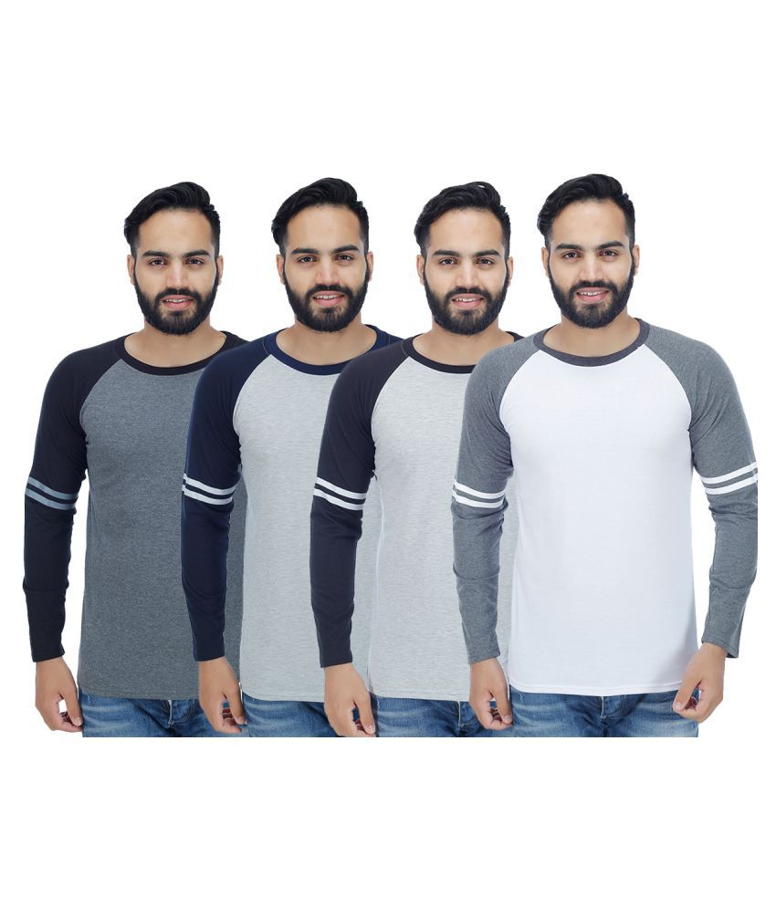 Rakshita's Collection Multi Round T-Shirt Pack of 4