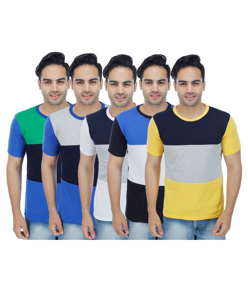 Candy House Multi Round T-Shirt Pack of 5