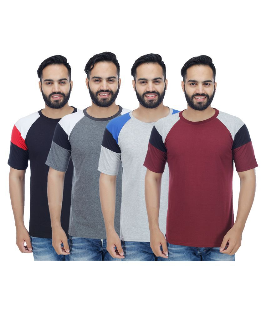 Candy House Multi Round T-Shirt Pack of 4