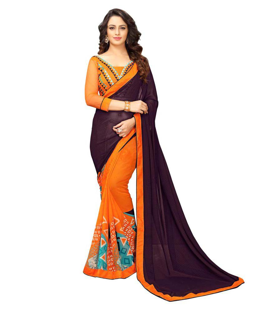 Glam Elegance Multicoloured Georgette Saree