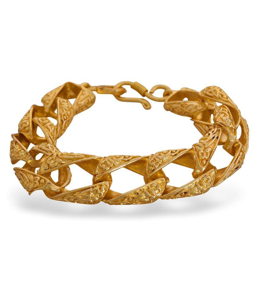 Solitare Brass material gold plating Bracelet