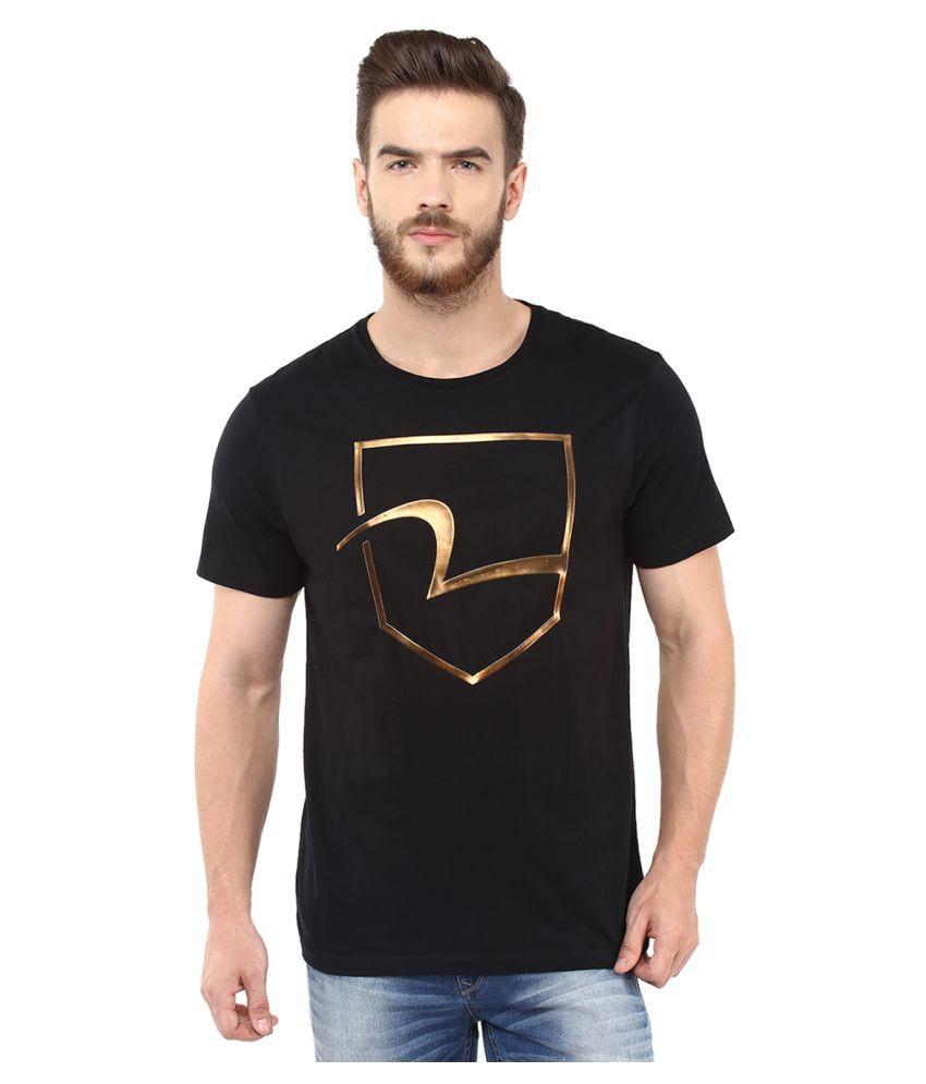 Spykar Black Round T-Shirt