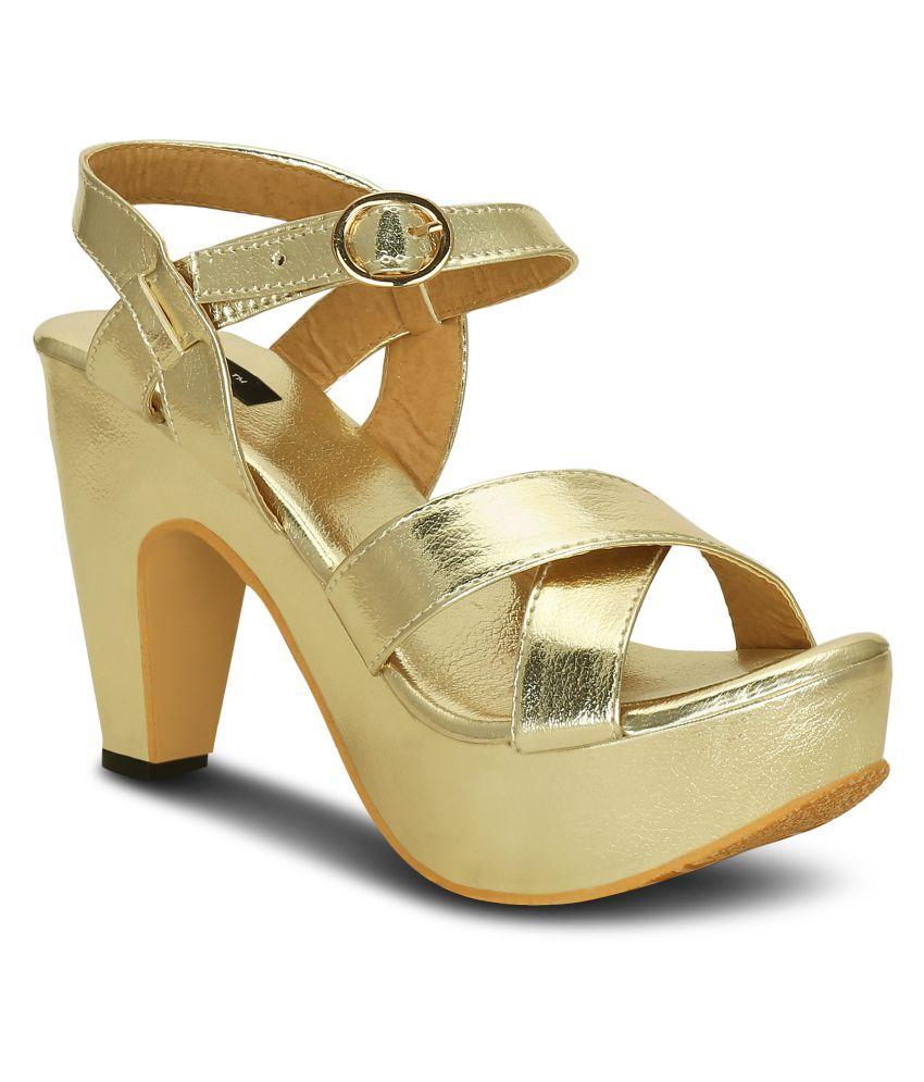 Kielz Gold Block Heels