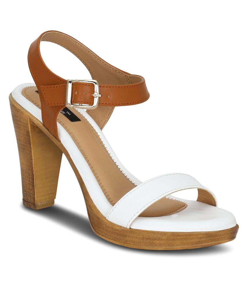 Kielz White Cone Heels
