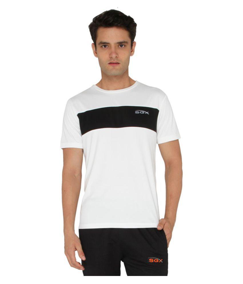 SGX White Round T-Shirt