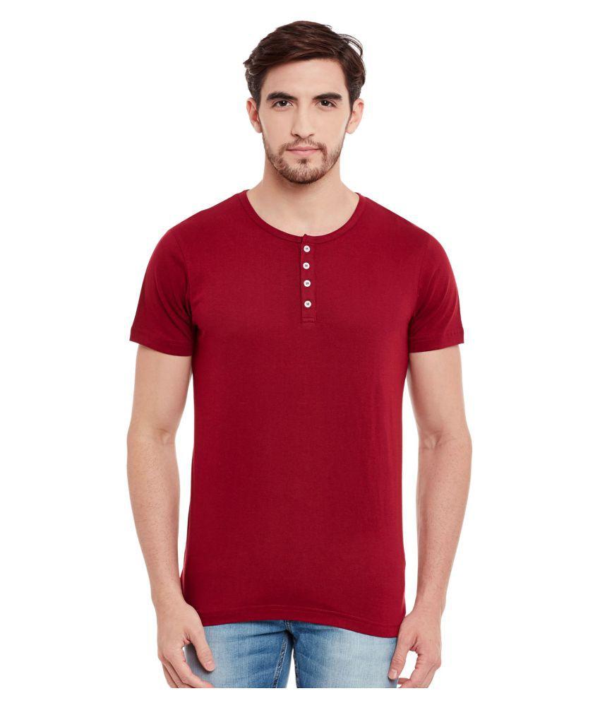 The Vanca Maroon Henley T-Shirt
