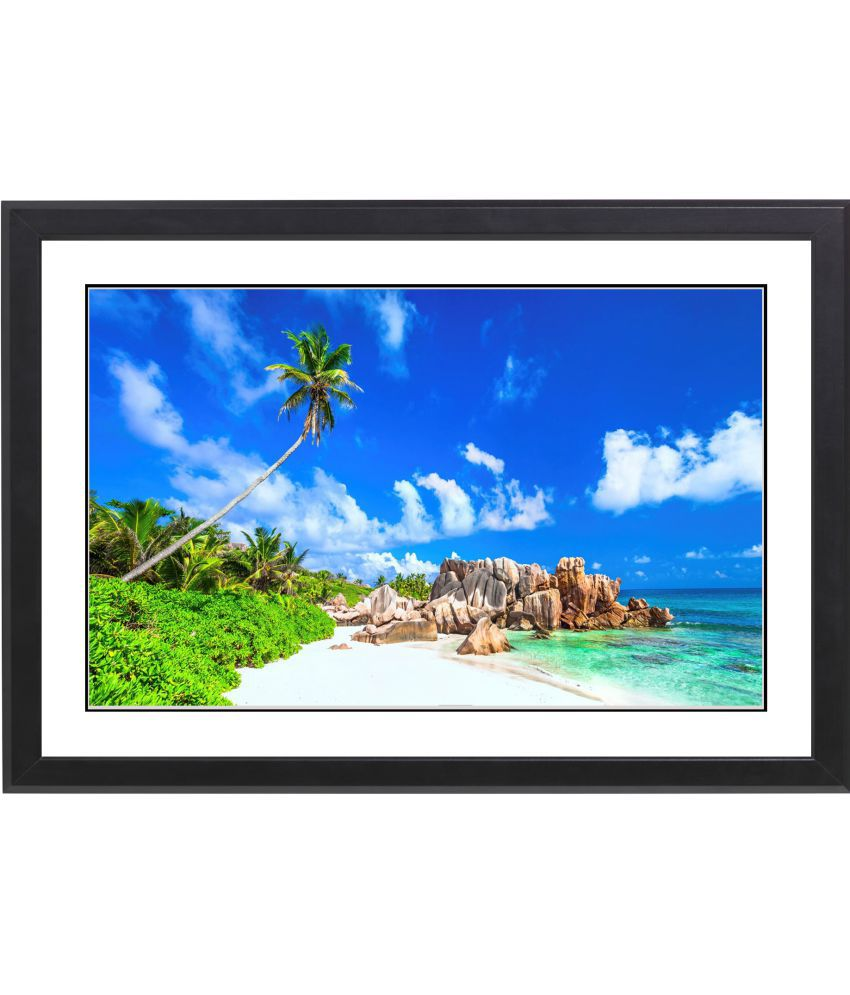 CRAFTSFEST BEAUTIFULL SEA BEACH MDF Painting With Frame