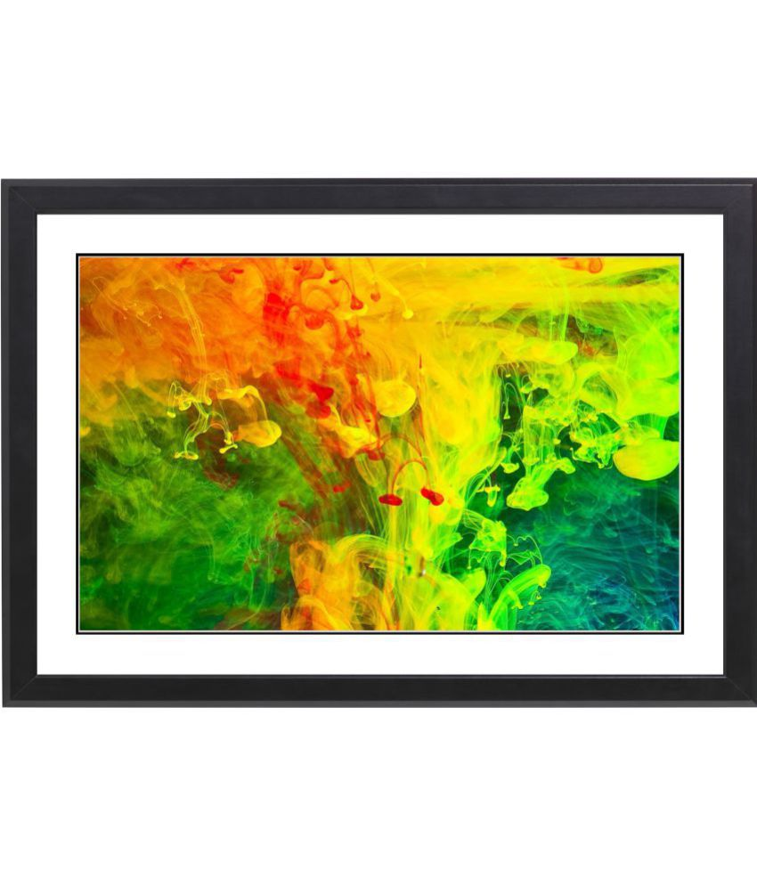 Craftsfest Beautifull Modern Abstract MDF Painting With Frame- (30cmX20cmX1.5cm)