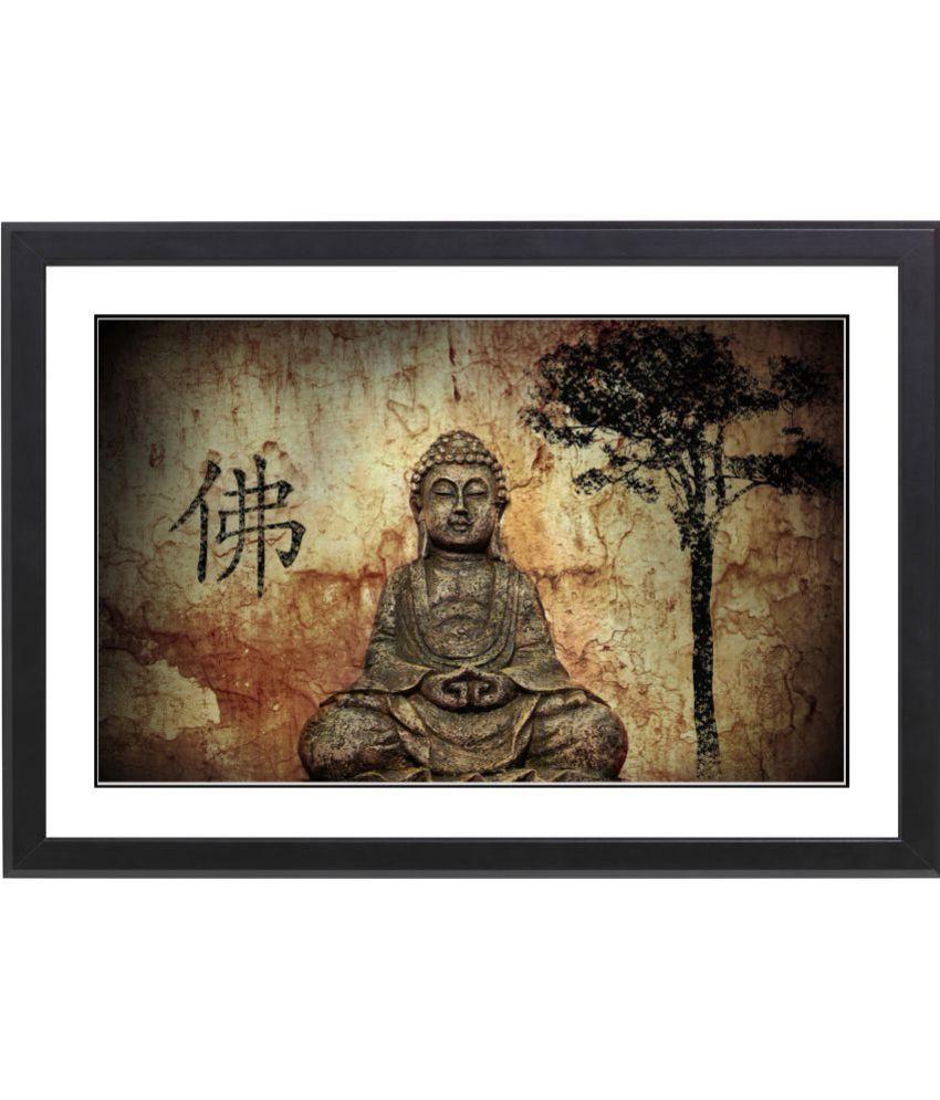 Craftsfest Vaastu Budha MDF Painting With Frame- (30cmX20cmX1.5cm)