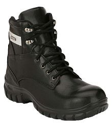Kavacha High Ankle Black Safety Shoes