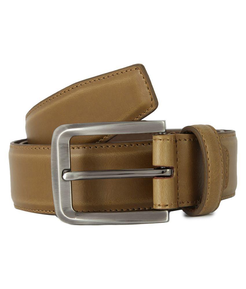 Waist Wire Khaki PU Casual Belts