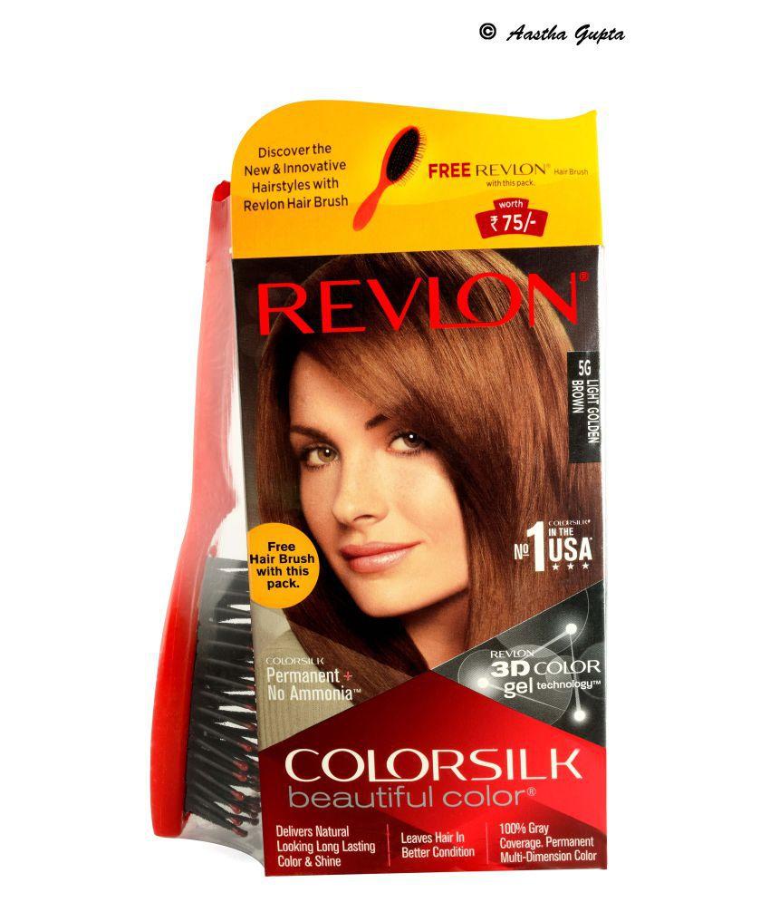 Revlon Colorsilk Hair Color Light Golden Brown 5G Temporary Hair Color Light Brown 158 gm: Buy Revlon Colorsilk Hair Color Light Golden Brown 5G Temporary ...