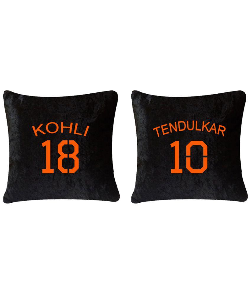 CATMAN Set of 2 Velvet Cushion Covers 40X40 cm (16X16)