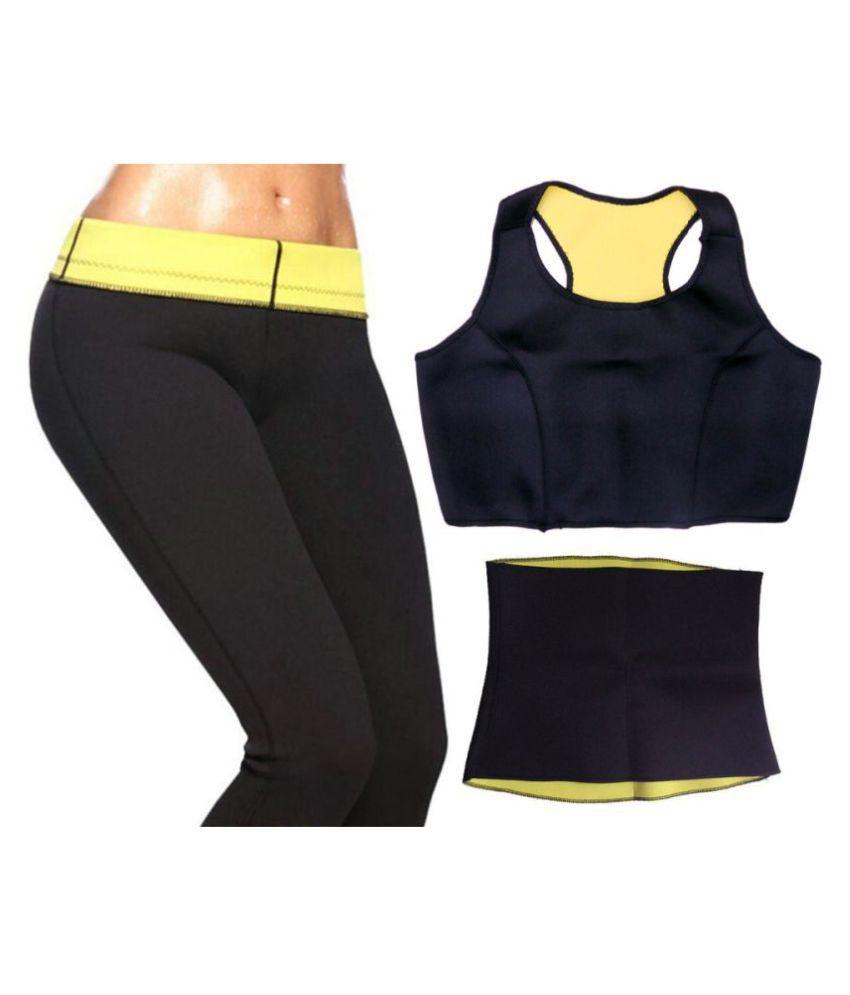 KALMAPATI TRADERS Hot Sweat Slim Belt Fat Cutter & Fat Burner Complete Set Combo of Belt, Bra & Pant Size_Large