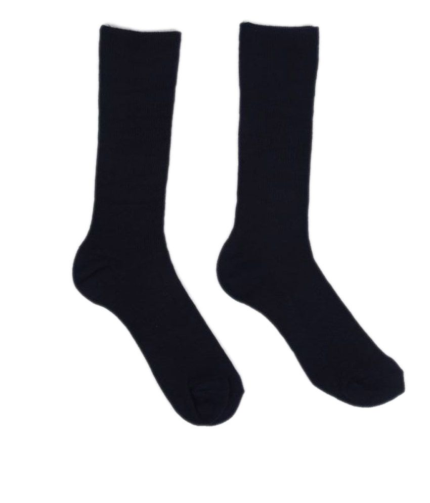 Hiver Pure Woolen Socks for Adults - Black