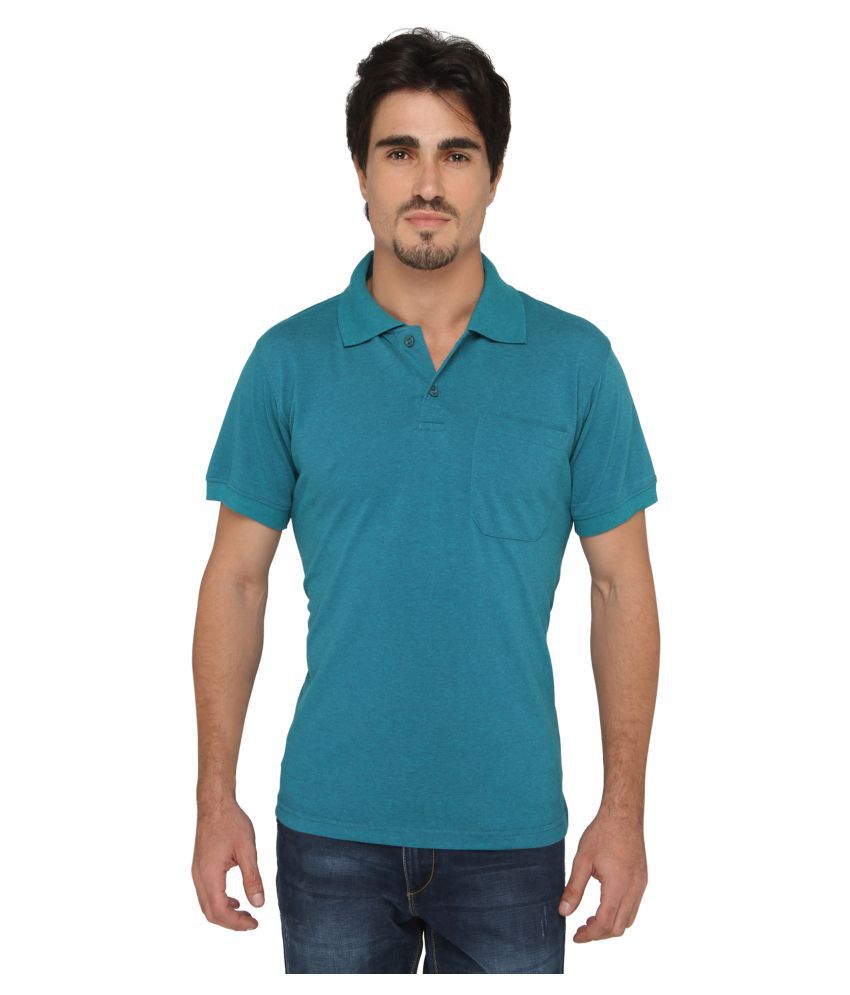 SGX Blue Polyester Polo T-Shirt