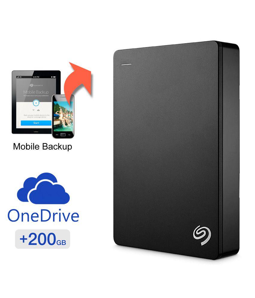 Seagate Backup Plus 4 TB Portable Hard Disk Drive & Mobile Device Backup - Black