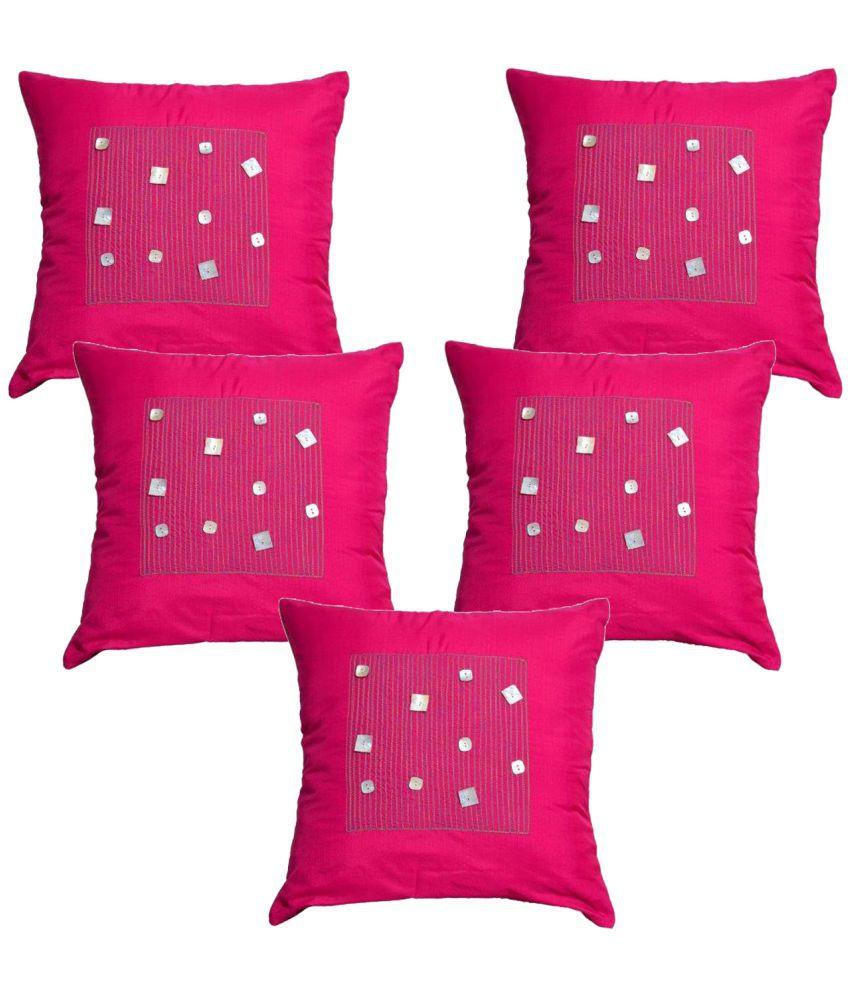 Elite Eternally Set of 5 Silk Cushion Covers 40X40 cm (16X16)