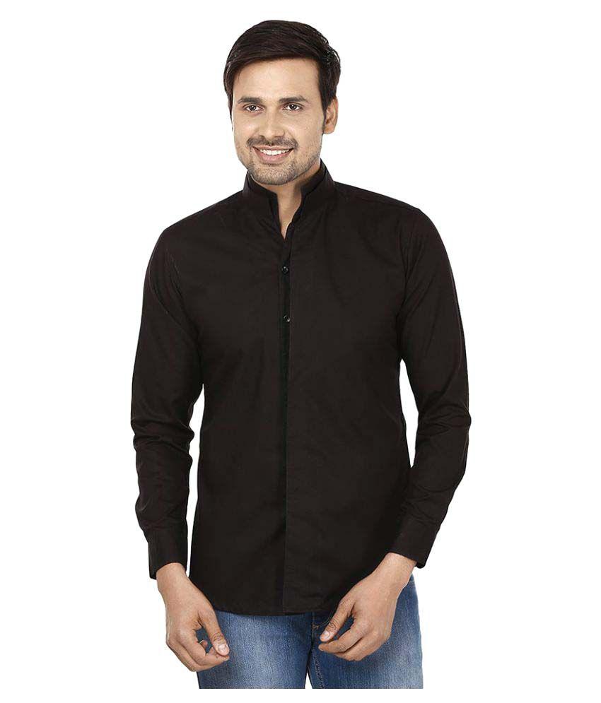 Color Opera Kreation Black Casual Regular Fit Shirt