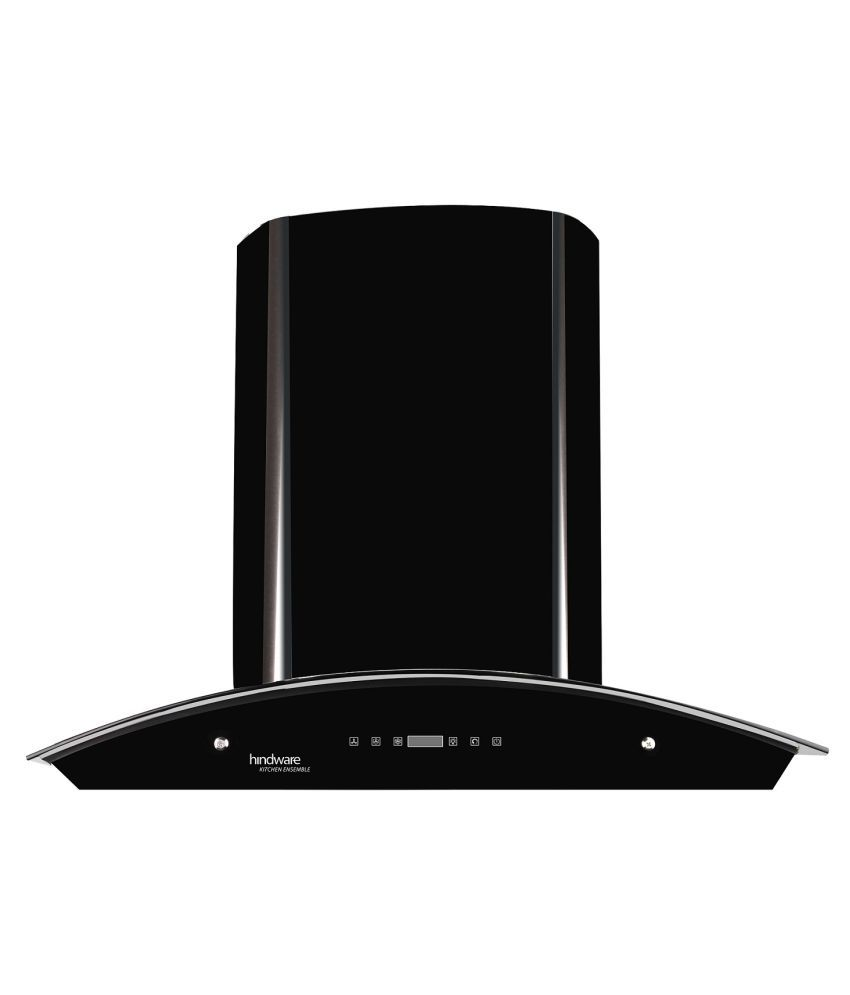 Hindware Nevio 60 BLK 1200 m3/hr 60 cm Stainless Steel Hood Chimney with 5 Year Warranty [ Call 1800 200 7577 for Installation & Demo]