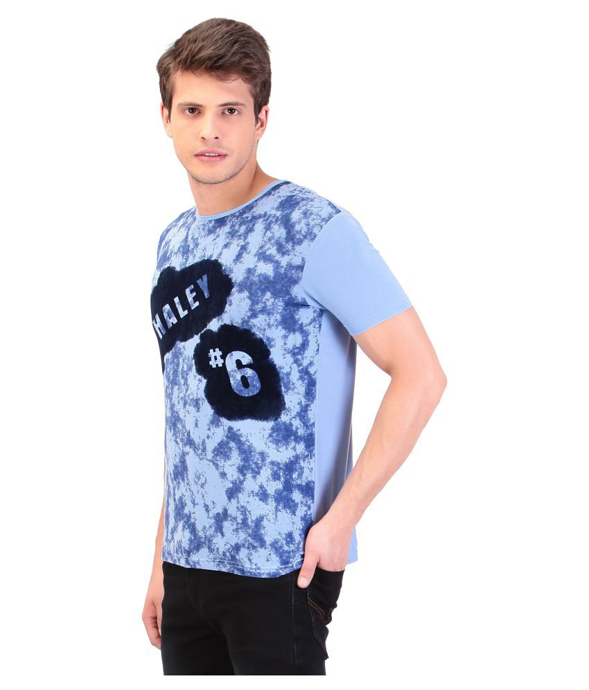 TAG 7 Blue Round T-Shirt