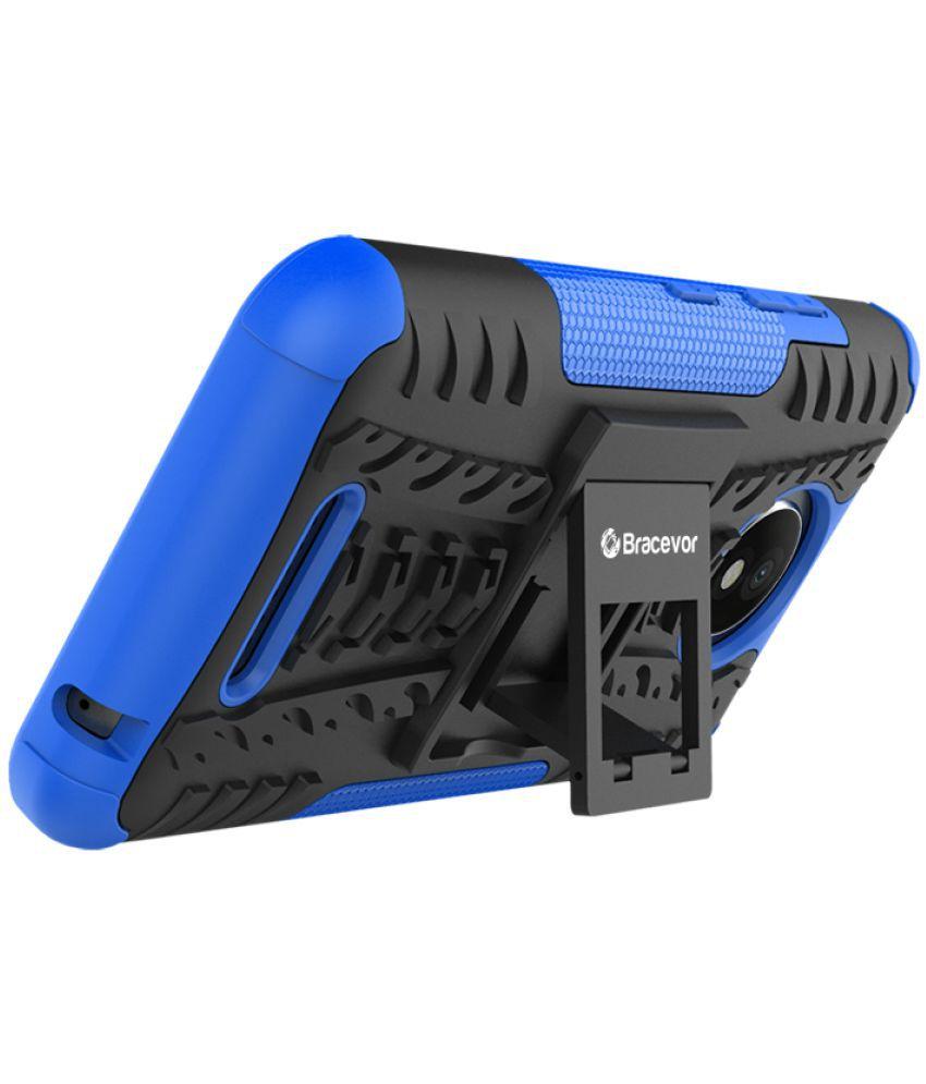 Moto C Plus Shock Proof Case Bracevor - Blue