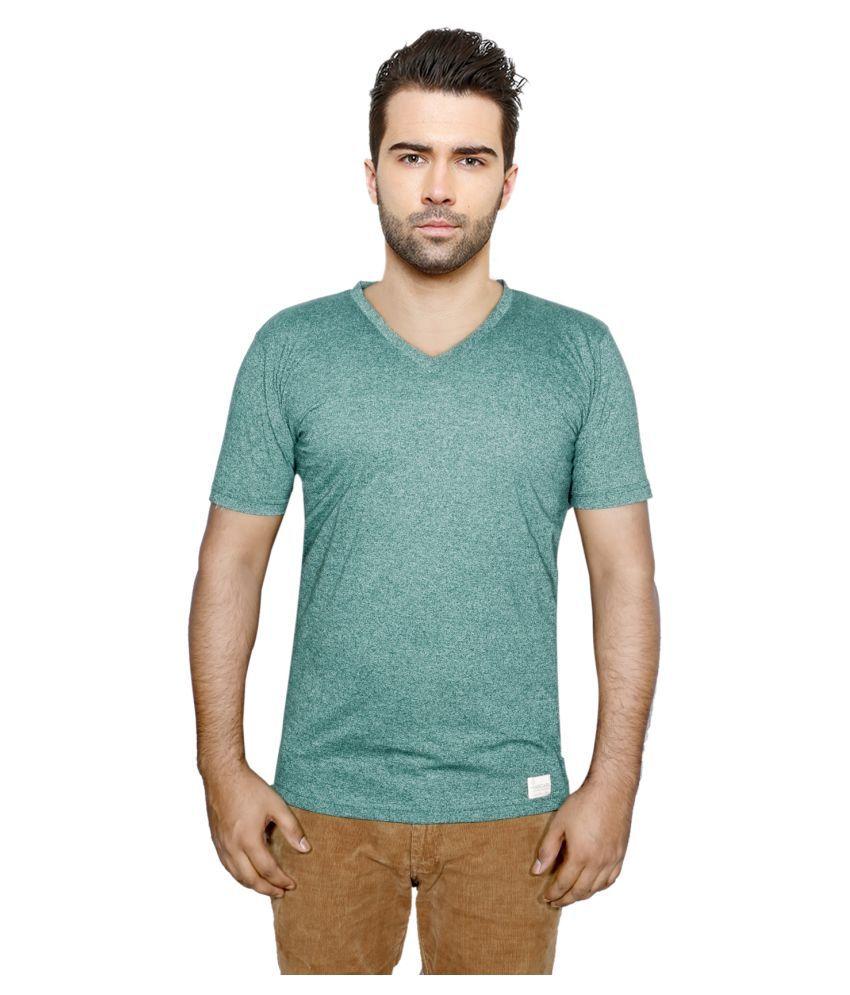 IndiWeaves Green V-Neck T-Shirt