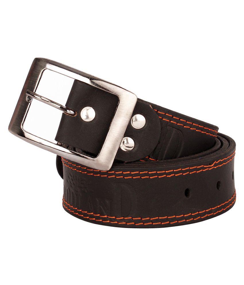 Viaan Retail Black Leather Casual Belts