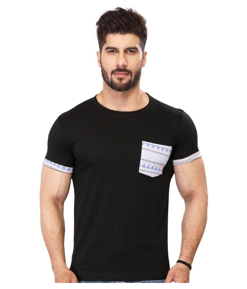 BlackMajik Black Round T-Shirt