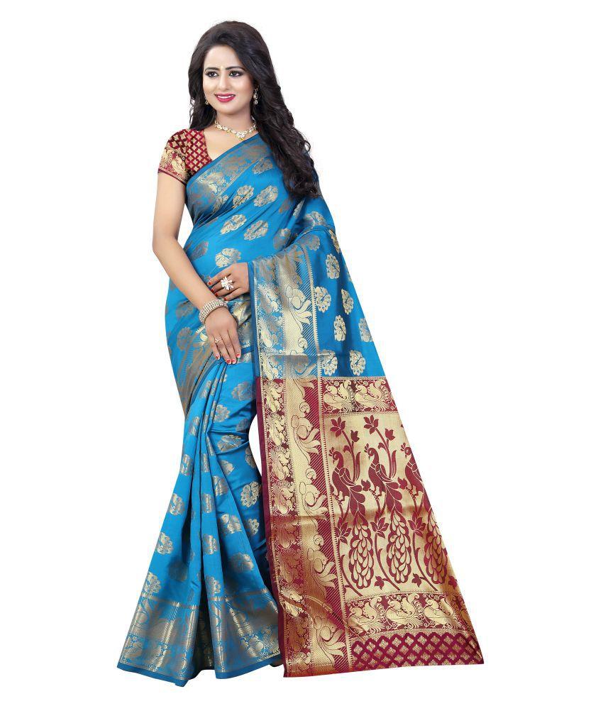 Dealsure Multicoloured Banarasi Silk Saree