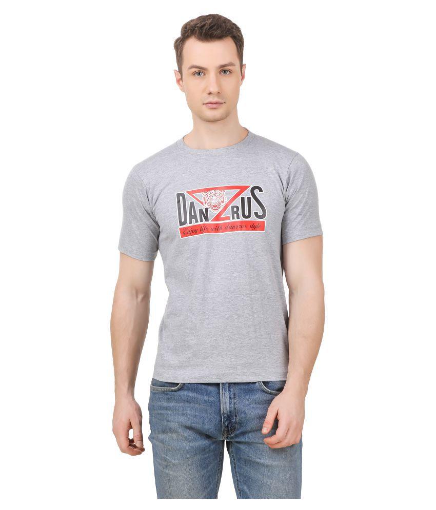 DANZRUS Grey Round T-Shirt