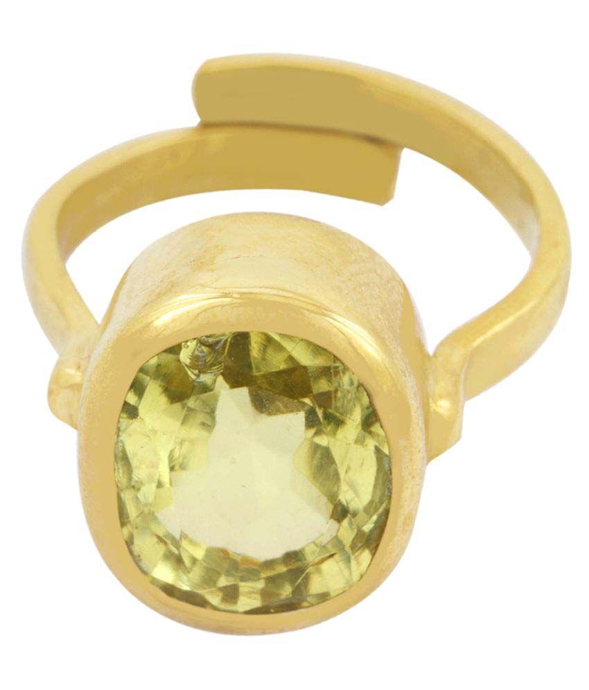 Avaatar Panch Dhatu Yellow Gold Topaz Ring